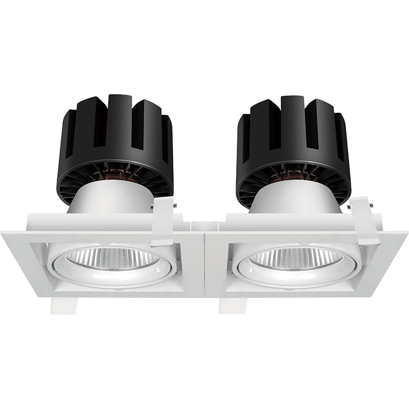 Square LED down light/grille light 207021-2 MAX 80W